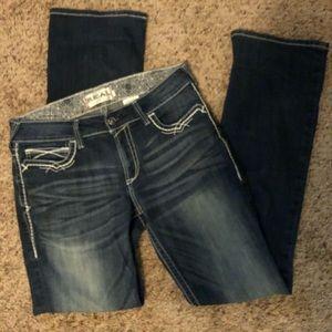 Ariat women's mid rise bootcut Jeans 31 XLong